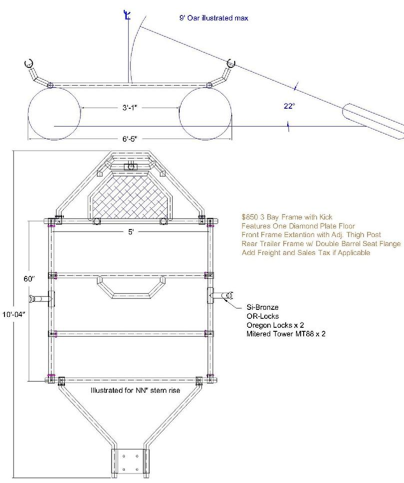 Raft frame, Cataraft, Cataraft frame, Rowframe, and Whitewater Equipment